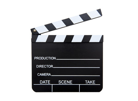 old frame: clapperboard