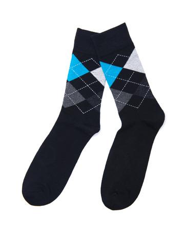 cuadros blanco y negro: calcetines  Foto de archivo
