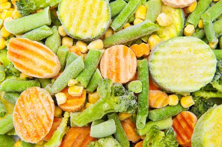 pack string: frozen vegetables Stock Photo