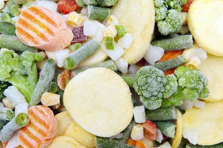 frozen vegetables 写真素材