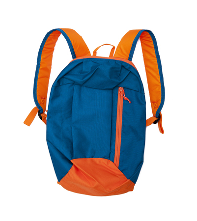 back to school supplies: backpack Stock Photo