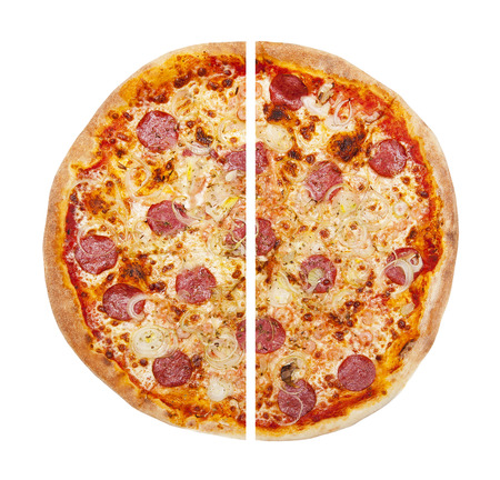 two and a half: pizza Stock Photo
