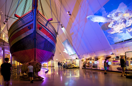 OSLO, NORWAY - AUGUST 27, 2016: The Gjoa ship at at The Fram Museum in Oslo. Editorial