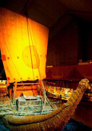 OSLO, NORWAY - AUGUST 27, 2016: The Ra II in the Kon-Tiki Museum in Oslo