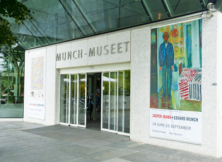 munch: OSLO, NORWAY - AUGUST 28, 2016, Jasper Johns and Edvard Munch exhibition in The Munch Museum in Oslo.