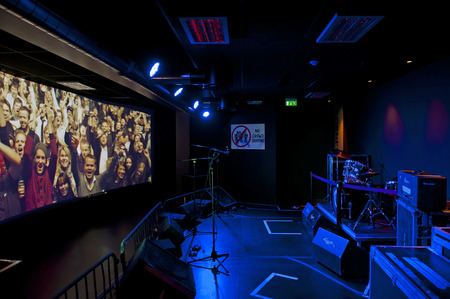 pop idol: OSLO, NORWAY - AUGUST 28, 2016: Popsenteret - The Pop - Centre Interactive Museum in Oslo. Editorial