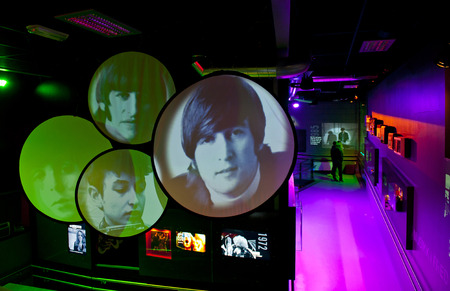 john lennon: OSLO, NORWAY - AUGUST 28, 2016: Popsenteret - The Pop - Centre Interactive Museum in Oslo. Editorial