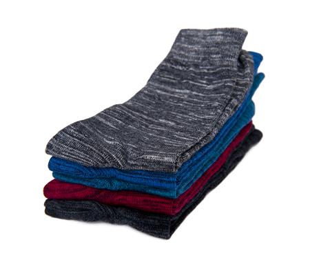 Socks set isolated on the white background Stock Photo