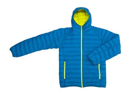 Blue jacket isolated on the white background