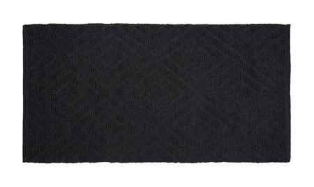 Carpet in diamonds isolated on white background Stock Photo