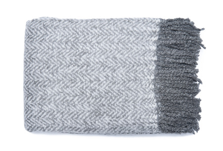 Herringbone soft blanket isolated on white background