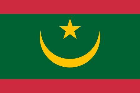 Bandera de la ilustración de vector de Mauritania