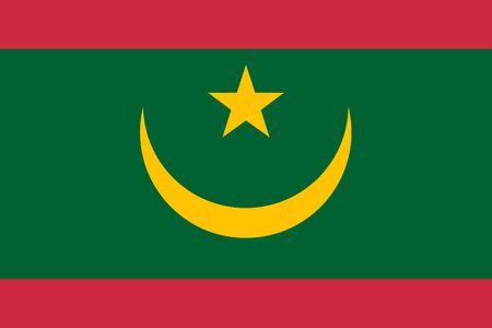 Flag of Mauritania vector illustration