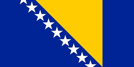 Flag of Bosnia and Herzegovina vector illustration Illustration