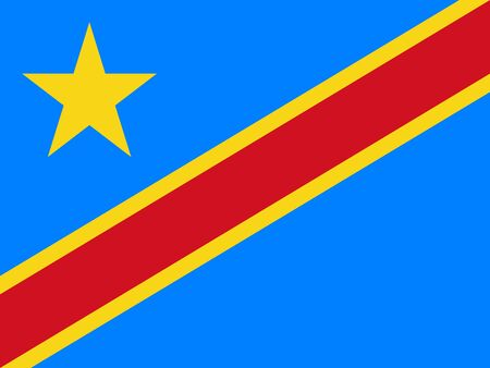 Flag of the Democratic Republic of the Congo vector illustration