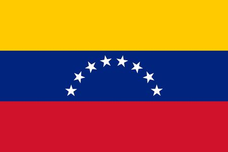Flag of Venezuela vector illustration Illustration