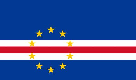 Flag of Cape Verde vector illustration