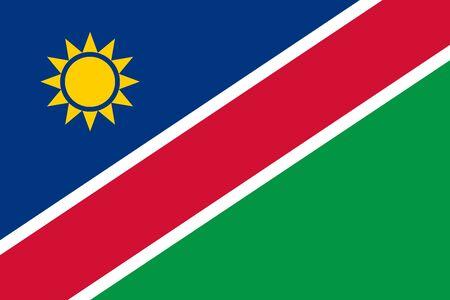 Drapeau de la Namibie illustration vectorielle