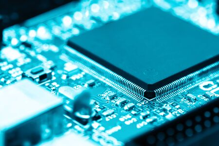 CPU electronic circuit board concept of modern and high technology with computer programming and AI (artificial intelligence )