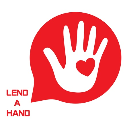 charity drive: Lend a Hand Logo for Tsunami Relief Efforts Charity Drive 2011, Japan