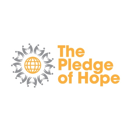 charity drive: Pledge of Hope Logo for Tsunami Relief Efforts Charity Drive 2011, Japan Illustration
