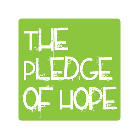 Pledge of Hope Logo for Tsunami Relief Efforts Charity Drive 2011, Japan Stock Vector - 9085279