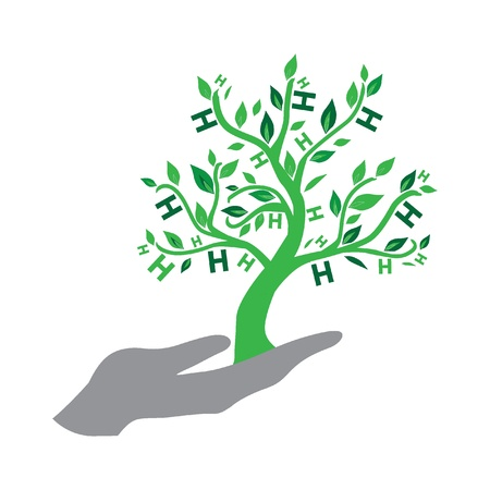 contribuire: Albero del Logo di speranza per Tsunami Relief Efforts carit� Drive 2011, Giappone Vettoriali