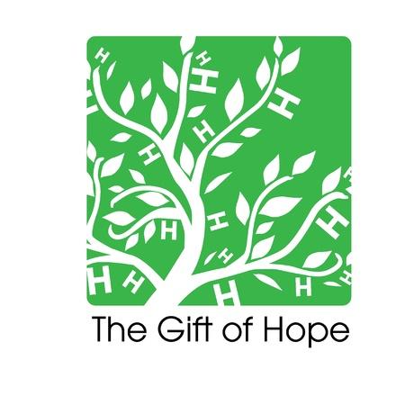 contribuire: Il dono della speranza Logo per Tsunami Relief Efforts carit� Drive 2011, Giappone Vettoriali