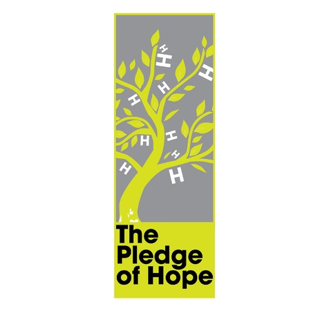 charity drive: The Pledge of Hope Logo for Tsunami Relief Efforts Charity Drive 2011, Japan Illustration