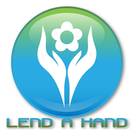 Lend a Hand to Japan. This work was donated by Mira Bavutti (miraBavutti) for the Tsunami Relief Fund - proceeds from all downloads will donated to the Hong Kong Red Cross. Stock Vector - 9143622