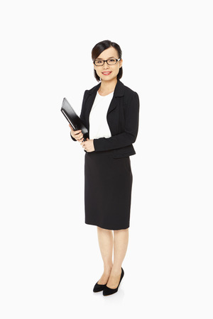 Portrait of a businesswoman smiling photo
