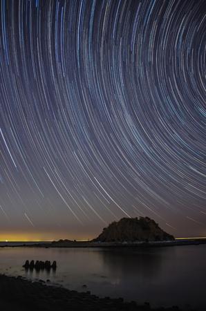 diurnal: stellar diurnal motion  Stock Photo