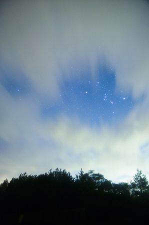 orion: Orion of the crevice between clouds