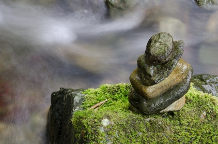 maintain: stone which was able to maintain balance