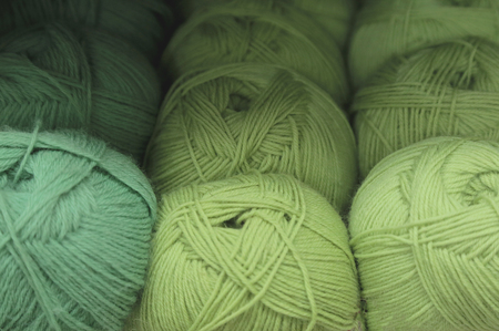 ravels of green cotton thread