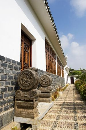 bounding: The chinese ancient building of china Stock Photo