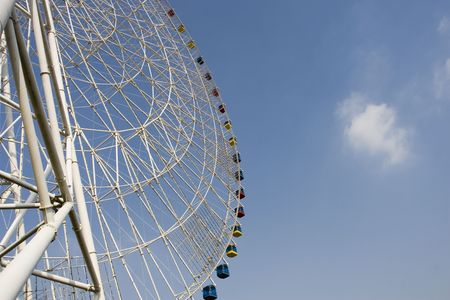 steely: Ferris wheel Stock Photo