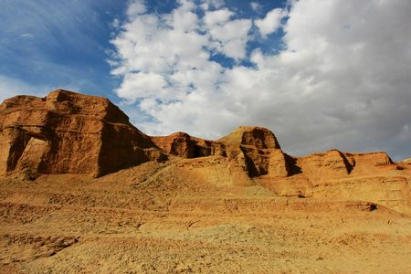 tableland: Located at the northwest of Sinkiang China, Ghost Castle is also known as Wind City, because of its landscape shaped by wind erosion.