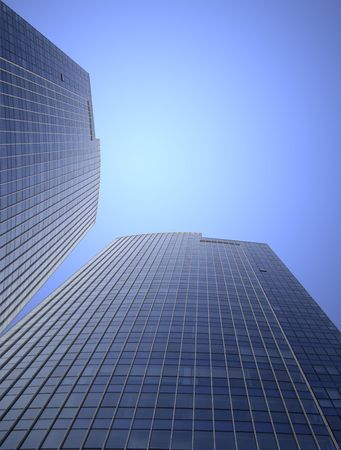 glassed: the modern building of the lujiazui financial centre in shanghai china.