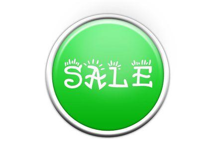 Plain aqua button - internet button photo