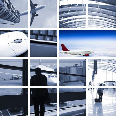 airport customs: the transport concept with the scene at airport.