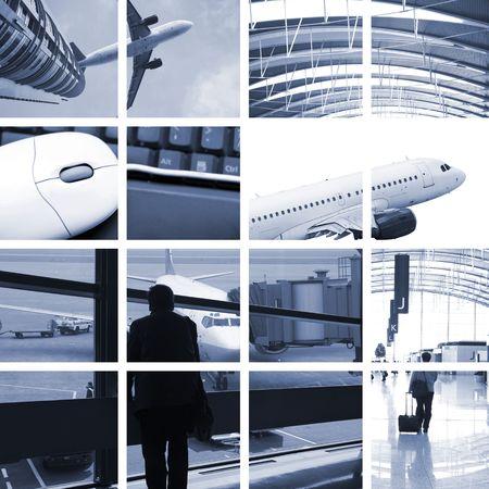 le concept de transport avec la scène à l'aéroport.