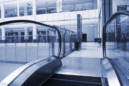 emporium: the escalator of a emporium.