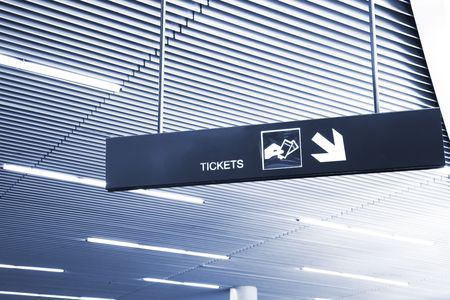 luminescent: the tickets of the subway station. Stock Photo