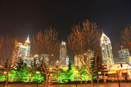 the night view of shanghai china. Stock Photo - 4735700