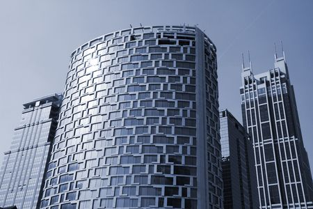 uptown: the modern building of the lujiazui financial centre in shanghai china.
