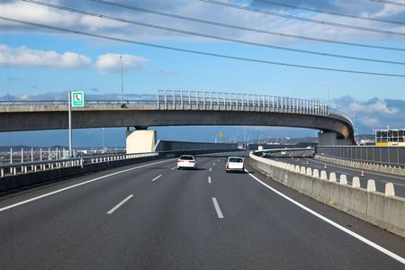 highroad: the highroad of a city in japan.