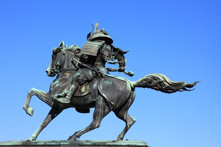 the sculpture of a hero aside the mansion of the Mikado in japan. Stock Photo - 5079644