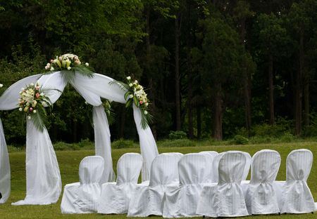 wedding chairs: the outdoor wedding of a park.