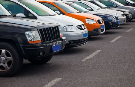 cars parked in a row outside. Stock Photo - 5079480